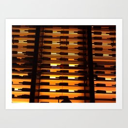 Wine Wall 01 Art Print