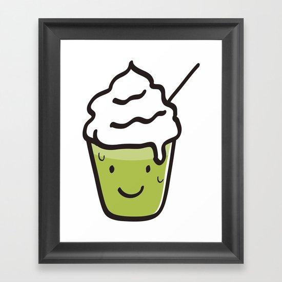 Green tea frappuccino Framed Art Print