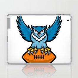 Great Horned Owl American Football Mascot Laptop & iPad Skin