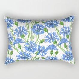 Watercolor cornflower pattern Rectangular Pillow