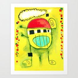 Nen trapella amb gorra Art Print
