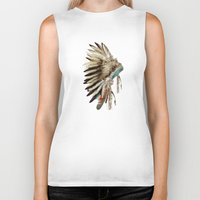 headdress Biker Tanks featuring headdress by bri.buckley