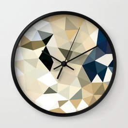 Neutral Tris Wall Clock