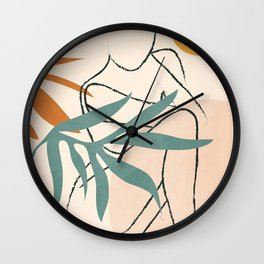 Minimal Line in Nature II Wall Clock