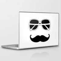 hipster Laptop & iPad Skins featuring Hipster by Genevieve Moye