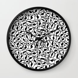 Leopard Print | black and white monochrome | Cheetah texture pattern Wall Clock