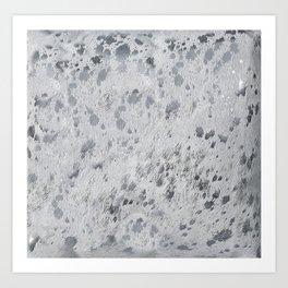 Silver Hide Print Metallic Art Print