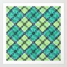 checkered pattern Art Print