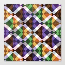 Retro Box Mosaic Small Canvas Print