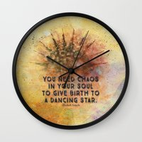 chaos Wall Clocks featuring Chaos by Ginkelmier