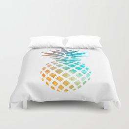 Watercolor Pineapple Duvet Cover