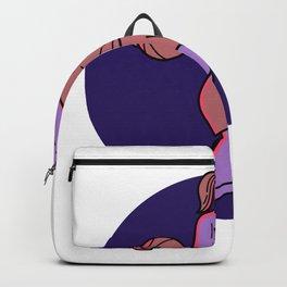 Woman Basketball Player Dribbling Mono Line Art Backpack