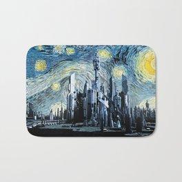 Starry Night Over Atlantis Bath Mat