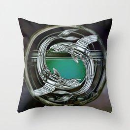 """""""Astrological Mechanism - Pisces"""" Throw Pillow"""