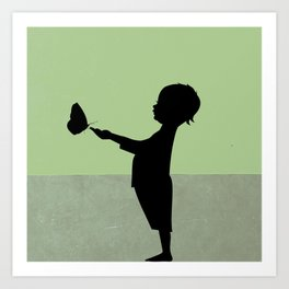 boy with boboleta Art Print