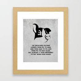 George Orwell - Animal Farm Framed Art Print