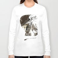 aliens Long Sleeve T-shirts featuring Aliens by OzoneO3