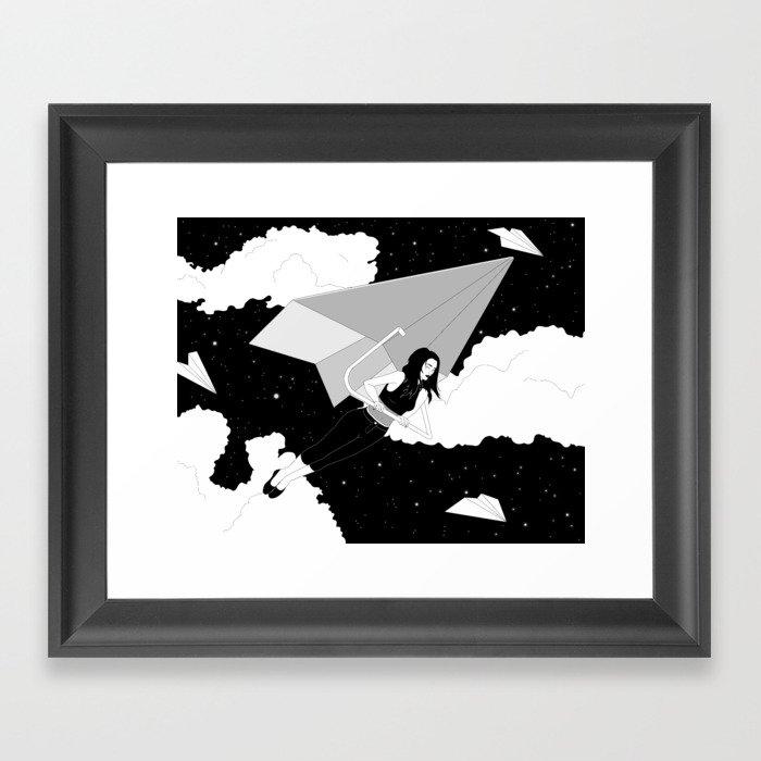 The Paper Plane Journey Framed Art Print