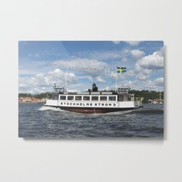 Ferry of Stockholms Strom Metal Print