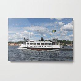 Ferry of Stockholms Strom Metal Print