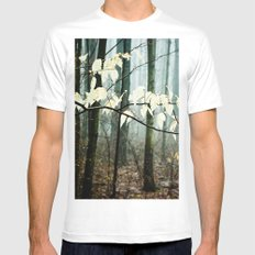 Dreams of the Sun on a Rainy Day MEDIUM Mens Fitted Tee White