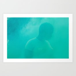 lux in green smoke Art Print