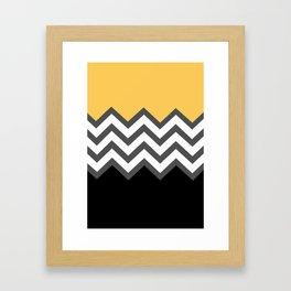 Color Blocked Chevron 6 Framed Art Print