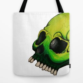 Green Skull  Tote Bag