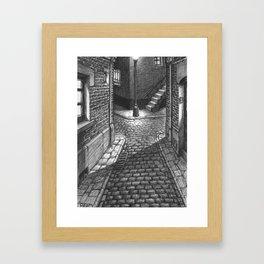 Streets crossing Framed Art Print