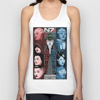 n7 Tank Tops featuring N7: The Female Squad by Alex Rodway Illustration