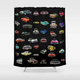 Car Cluster Shower Curtain