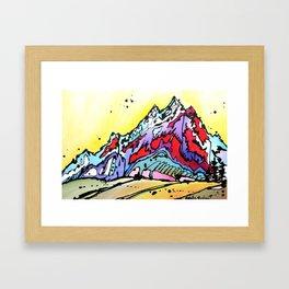 Waning Seasons in the Tetons Framed Art Print