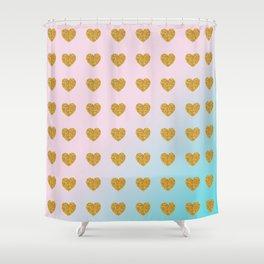 Halcyon Hearts Shower Curtain