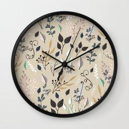 wild flowers 2 Wall Clock