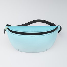 Sky Blue White Ombre Fanny Pack