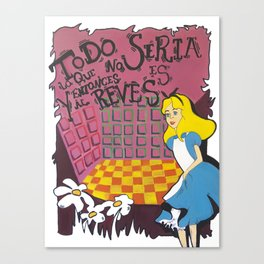 Alice in wonderland III Canvas Print