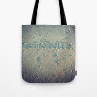 serenity Tote Bags featuring Serenity by Brianne Lanigan
