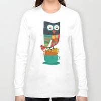 budi Long Sleeve T-shirts featuring Morning Owl by Picomodi