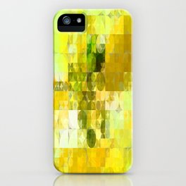 Pale Yellow Poinsettia 1 Abstract Circles 2 iPhone Case