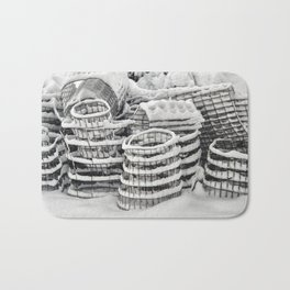 Plant Cages in the Snow Bath Mat
