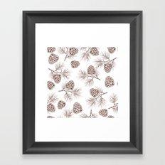 Pine Cone Framed Art Print