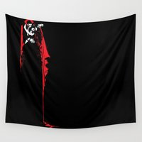 vampire Wall Tapestries featuring Vampire by Mr. And Mrs. Inky Hands