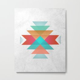 Geometric abstract indigenous symbol Metal Print