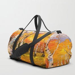 Birch trees Duffle Bag