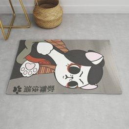catbuki, ukiyo-e japanese cat Rug