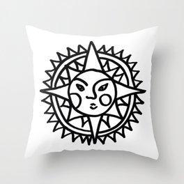 Smiling Sun Throw Pillow