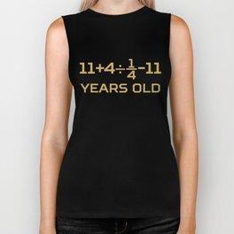 16 Years Old Algebra Equation Funny 16th Birthday Math Biker Tank