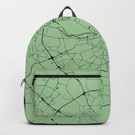 Dublin Street Map Lime Green Backpack