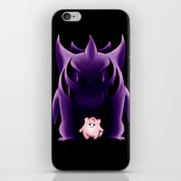 gengar iPhone & iPod Skins featuring Grim Gengar by JackiesGamingArt