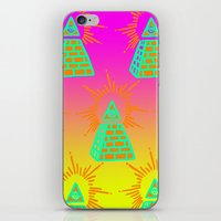 all seeing eye iPhone & iPod Skins featuring All Seeing Eye by Eyewax International